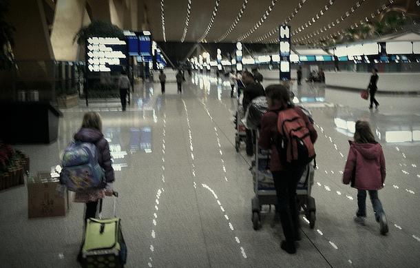 airport family, stress free travel, trip wellness
