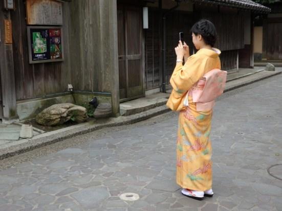 Japan cell phone kimono