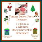 Yums Burger Press #Giveaway Ends Dec. 25 ENDED