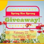 Spring Has Sprung #Giveaway Ends March 20