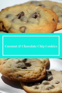 coconut and chocolate chip pinnable image