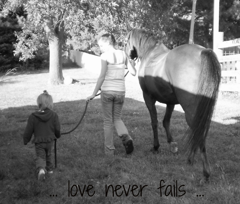 love never fails children and horse