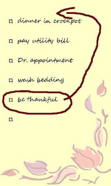 thankfulness list