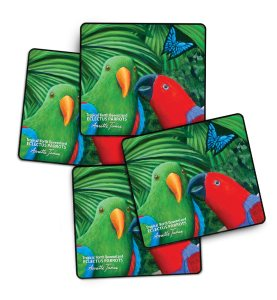 4 pack Eclectus Drink Coasters