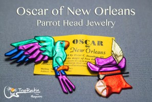 Parrot Head Jewelry by Oscar of New Orleans