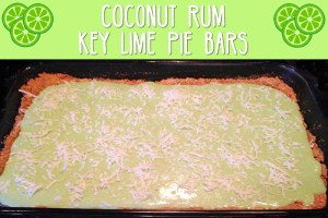 Coconut Rum Key Lime Pie Bars
