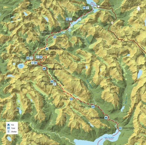 Milford Track route