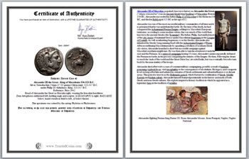 Certificate of Authenticity for Ancient Coins by Ilya Zlobin