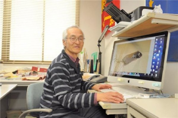 "Professor Hayashi who is called ""White Lion"" by his students because of his white hair and big voice. Credit: Image courtesy of University of Tsukuba"