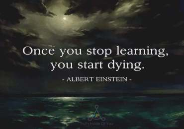Once you stop learning you start dying. ~ Albert Einstein
