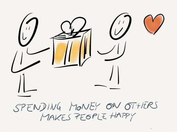 spending Money on others makes people happy