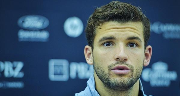 Grigor Dimitrov outsed in the opening round of the 2013 PBZ Zagreb Open in Croatia