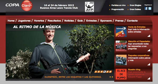 Copa Claro - Buenos Aires 2013 Tennis Tournament - Homepage