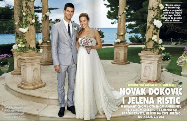 Novak Djokovic married Jelena Ristic