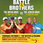 The Bryan brothers take on the Jensen brothers for charity