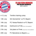 Bayern Munich Pre Season Matches 2013-2014