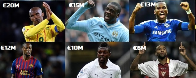 Richest Africa football players