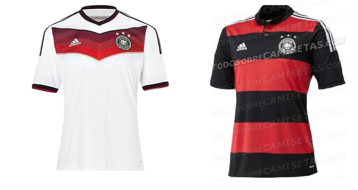 Germany official 2014 World cup home away jerseys
