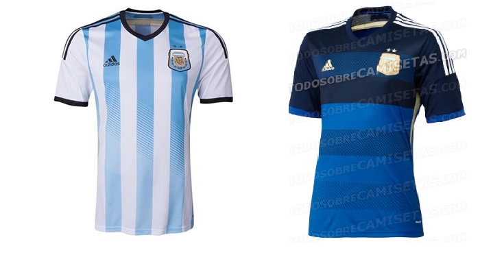 argentina home away kits 2014 world cup