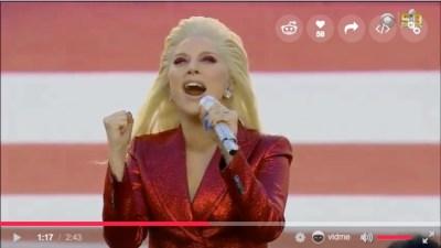レディー・ガガ  アメリカ国歌の独唱動画!!圧巻!!圧倒的!!とにかく凄い!!!