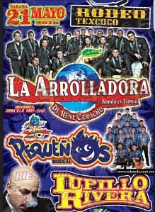 La Arrolladora, Pequeños y Lupillo en Rodeo Texcoco @ Rodeo Texcoco
