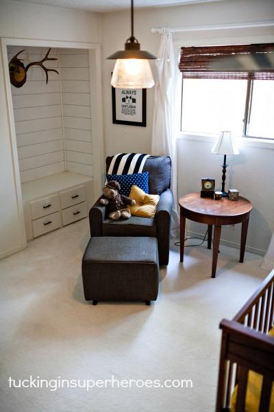 nursery chair and nook tucking in superheroes.com.jpg