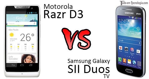 Galaxy SII Duos TV x RAZR D3