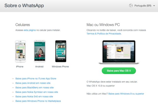 WhatsApp Mac e Windows