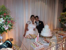 Foto da noiva Vanessa com David