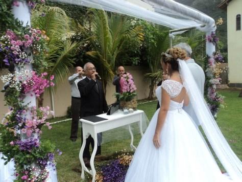 foto muito boa, cerimônia de casamento Daniele e Marcio, 19.7.14, Itaipuaçu