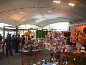 foto do salão de festa do Zéfiros Eventos