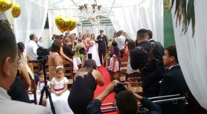 Cerimônia de casamento em Mansão Valqueire-RJ.