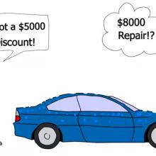 buying hail damaged car good deal?