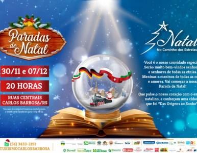 Parada de Natal tomará conta da rua Buarque de Macedo neste sábado, 30