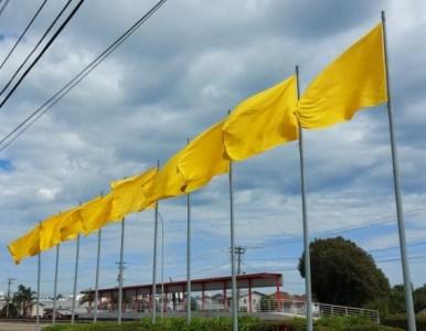 Portal das bandeiras agora terá nova composição de cores