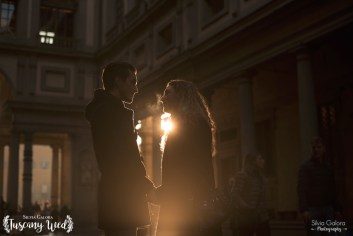 magic light tuscany engagement