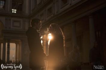 magic light tuscany engagement