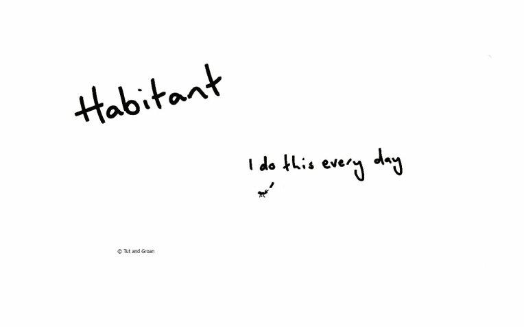 Tut and Groan Habitant cartoon
