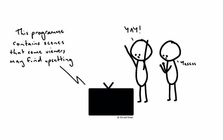 Tut and Groan Upsetting cartoon