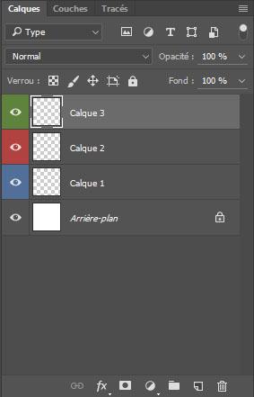 astuces Photoshop code couleur calques