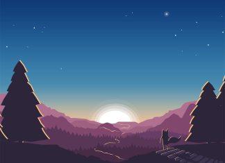 reproduire le fond d'écran de firefox paysage de crepuscule