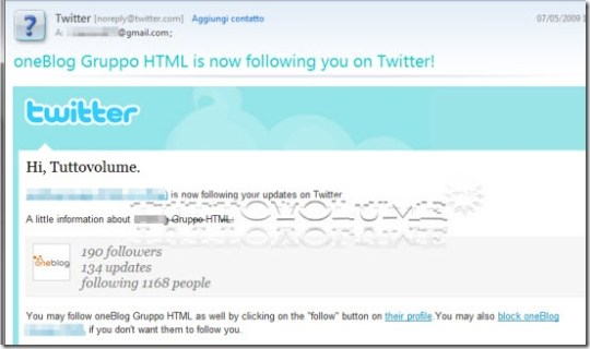 notifiche Twitter