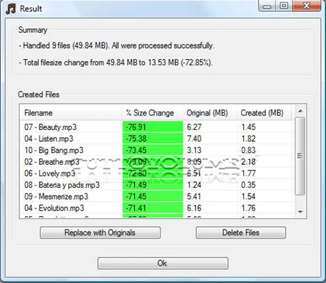 Result MP3