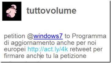 Tweet petizione