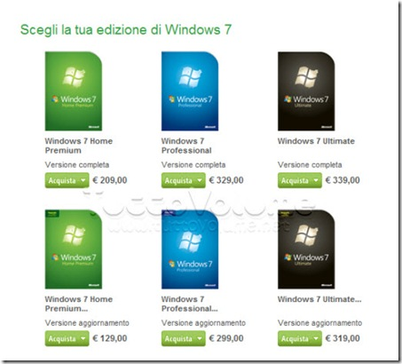 Windows 7 prezzi