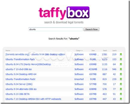 taffybox risultati ricerche torrent