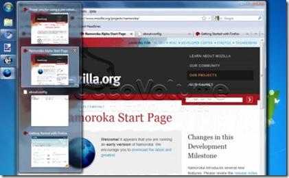 Firefox 3.6 Windows 7 Anteprima schede
