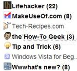Google Reader Favicon feed