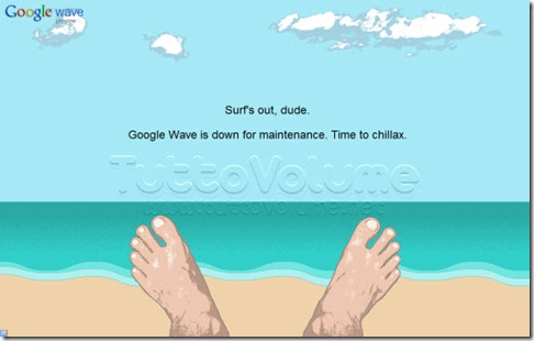 Google Wave Down Page