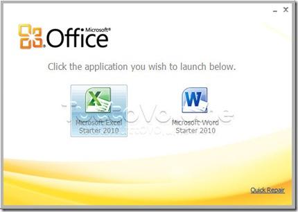 Office Starter Portable Menu Start